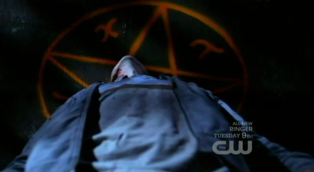Supernatural S7x15 - The demon sees he is in a devils trap