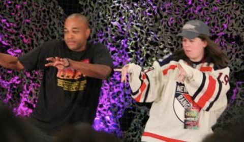 Supernatural BurCon 2012 - Rick Worthy and Rachel recreate their Backstreet Boys dancing