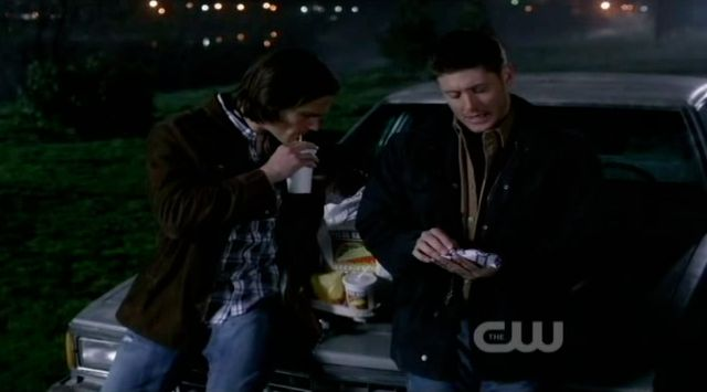 S7x19 Sam and Dean talk at car