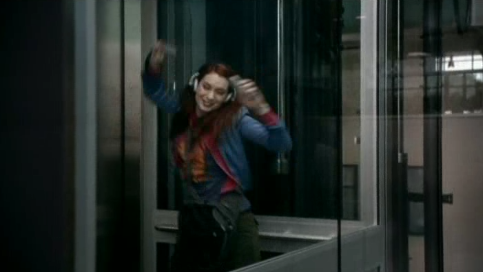 Supernatural S7x20 - Charlie Dancing in Elevator!
