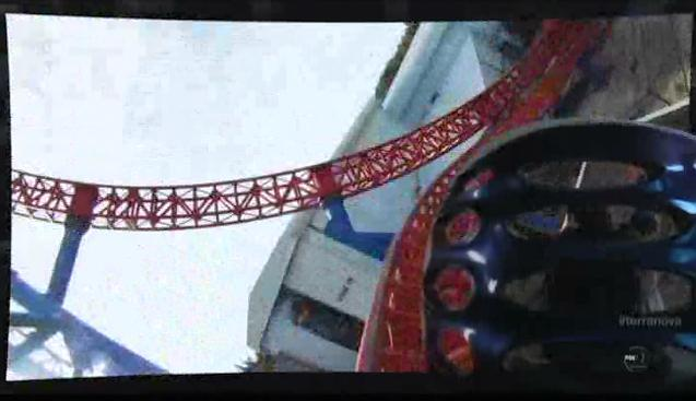 Terra Nova S1x06 Nightfall Jim and Zoe on rollercoaster