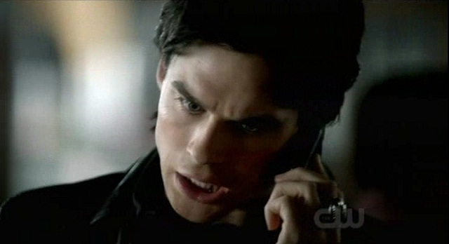 The Vampire Diaries S3x08 - Damon gets chewed out by Elena