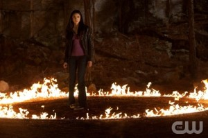 The Vampire Diarires S2x21 - Nina Dobrev in circle of fire