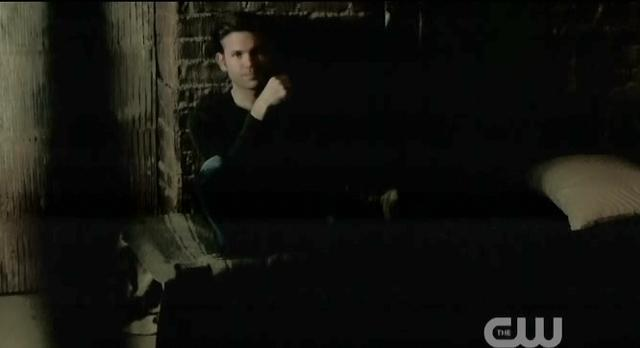 The Vampire Diaries S3x19 Elena entering cellar to see Alaric