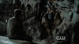 The Vampire Diaries S3x19 Rebekah walking into the cave vampires cant walk into