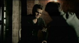 The Vampire Diaries S3x19 Stefan visiting Alaric in the cellar
