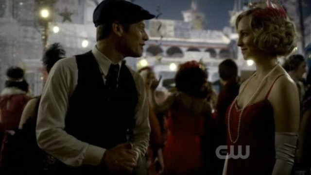 The Vampire Diaries 3x20 - Caroline Forbes and Matt Donovan at the party