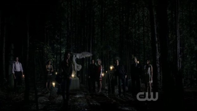 The Vampire Diaries 3x20 - Everybody saying good bye to Alaric though nobody said a word, speechless
