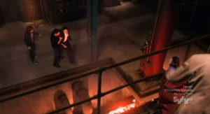 Warehouse 13 S3x13 - Lava exposed under the floor