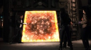 Warehouse 13 S4x01 - Pete heads for the portal to get Sykes
