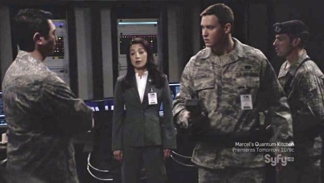 Brian McCaig on Stargate Universe - Iamge courtesy Syfy