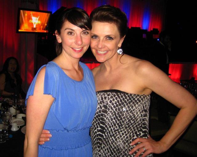 Krista Rand and Amanda Tapping at Leo Awards