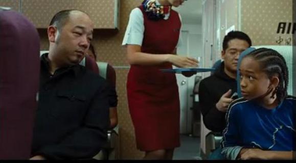 Karate Kid on the Plane