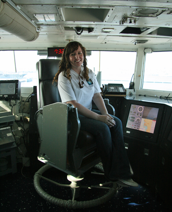 I'm in the Captain's chair of the USS Abraham Lincoln