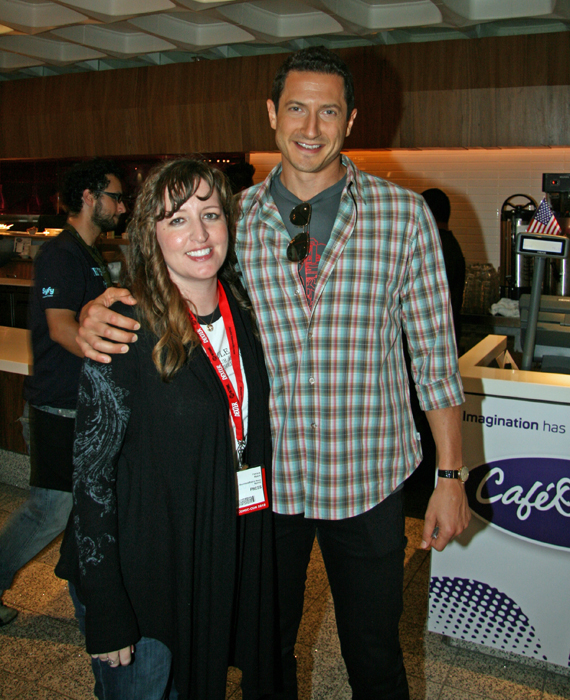 Me with Sasha Roiz