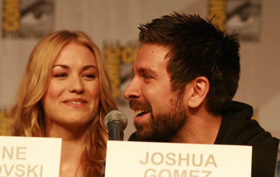 Yvonne Strahovski and Joshua Gomez of Chuck