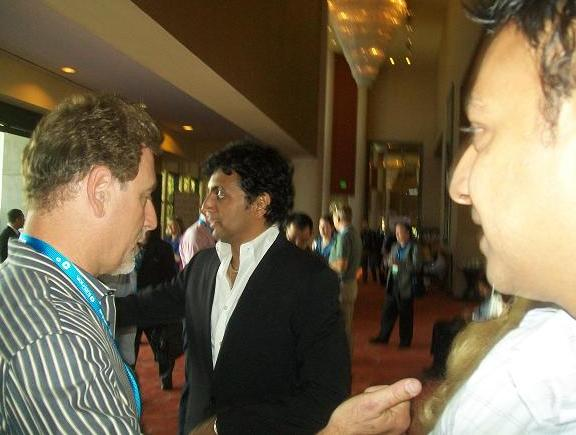 3D Entertainment Summit - M. Night Shyamalan mingles!