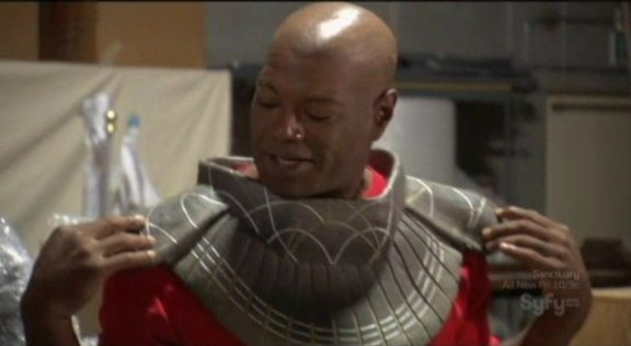 Hollywood Treasure - Chris Judge w Teal'c chest plate