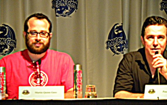 Martin Gero & Paul McGillion at Friday morning panel