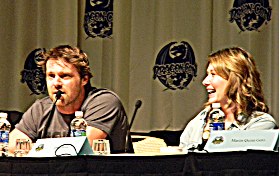 Michael Shanks and Jewel Staite