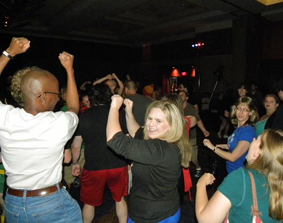 Dancing at the Star Trek party