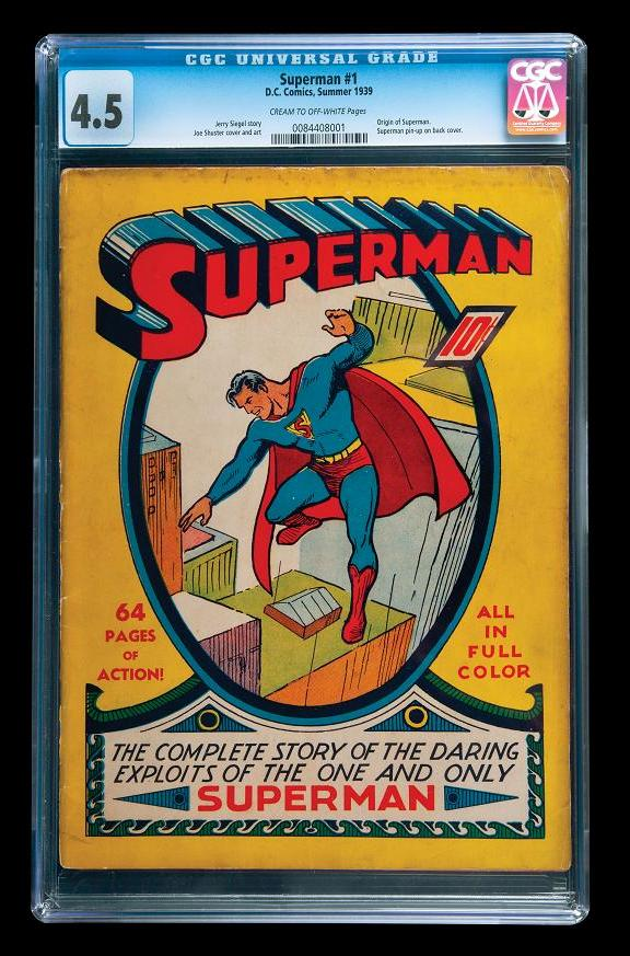 Extremely rare Superman Comics No. 1 circa 1939!