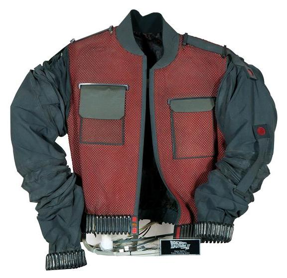 Screen-used Michael J Fox Marty McFly resizing future jacket!