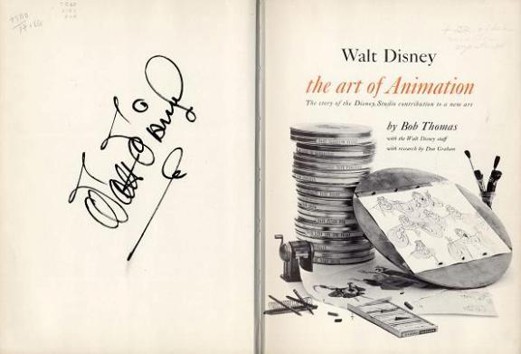 Walt Disney Autograph Book