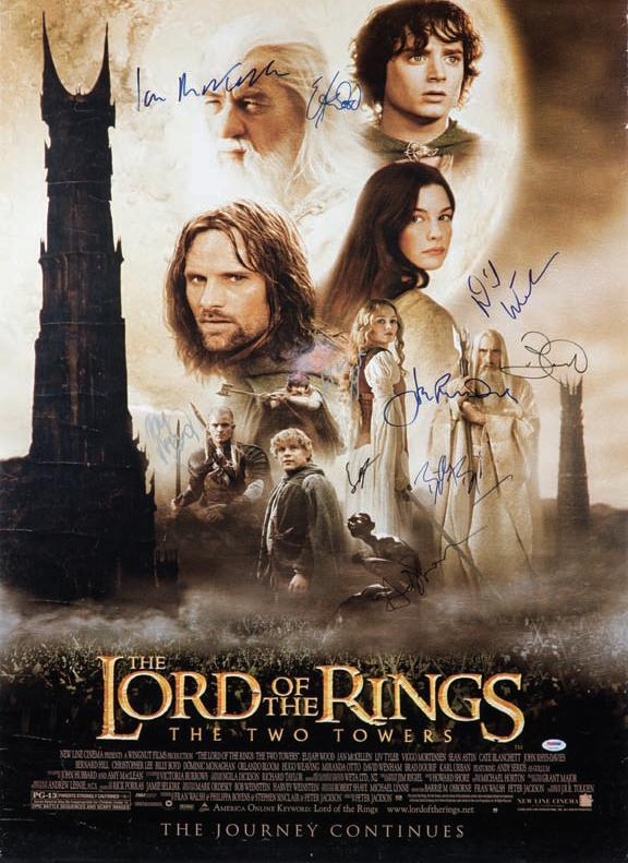 Lord of the Rings signed poster!