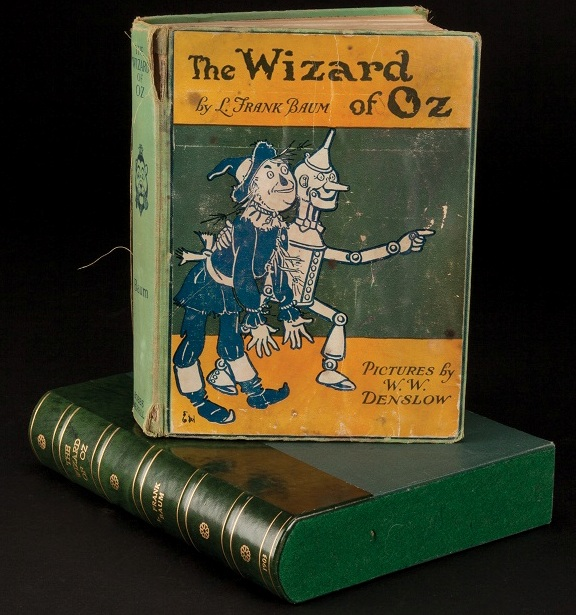 Wizard of Oz cloth-bound book signed by virtually entire cast