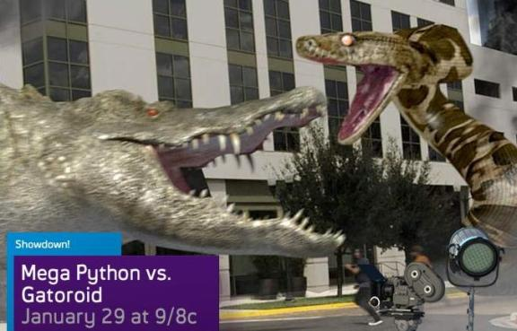 Learn about Mega-Python versus Gateroid on SyFy!