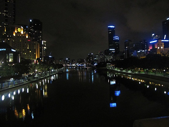 Melbourne from Princes Bridge, looking down past Southbank...at the end of long and memorable day...
