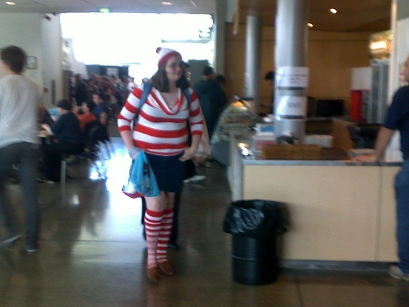 Lunchtime was spent finding Wally...