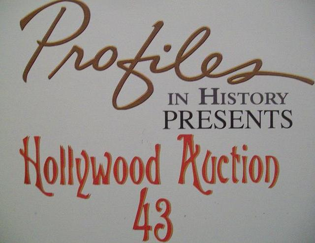 Hollywood Auction 43 Banner by Profiles in History