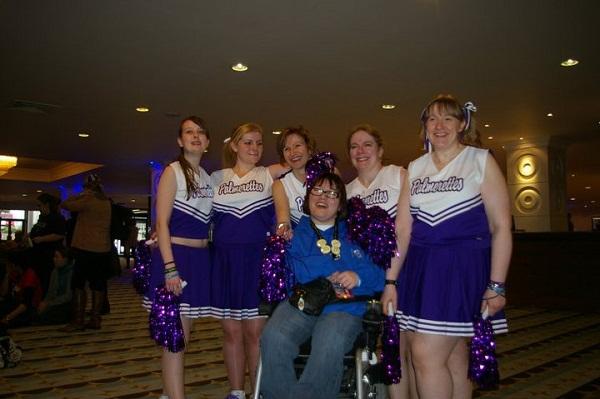 Julia's own cheer squad!