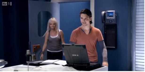 Primeval S4x07 - Connor shows Abby his lab