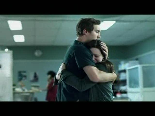 Josh comforts Emily