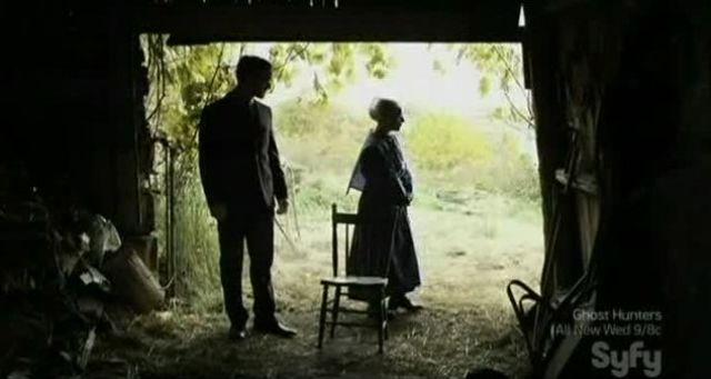 At the barn door