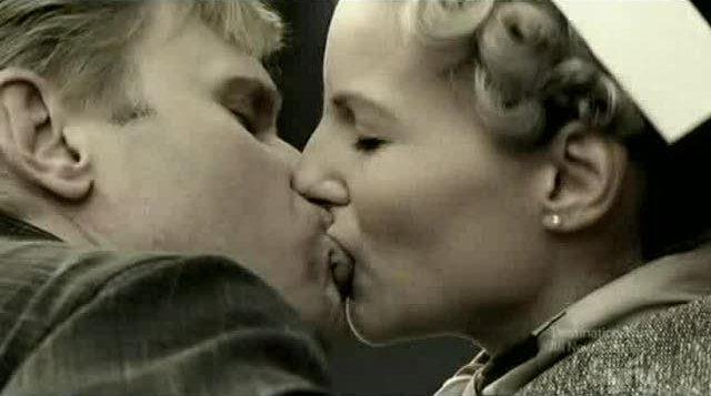 Bishop and Jane kissing
