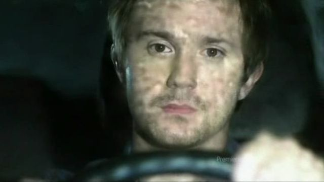 Josh driving in the rain