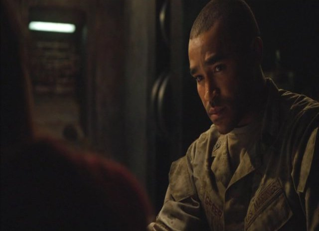 SGU S2x13 - Jamil Walker Smith as Greer in communications room
