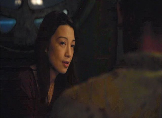 SGU S2x13 - MingNa as Camile Wray in communications room