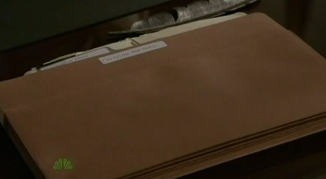 The Event S01x17 File in Lewis' office