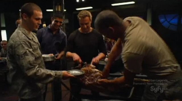SGU S2xE16 The Hunt - Varro carves the meat