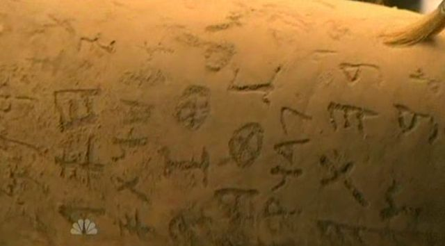 The Event S01x16 Close up of Glyphs