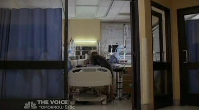 Christina cries in ICU