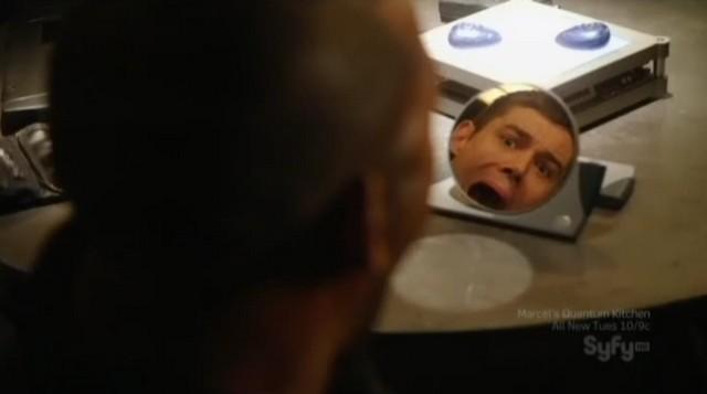 SGU S2x15 Seizure - Capt sees Scott's reflection in mirror
