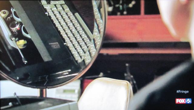 Fringe- S3x21 – Typewriter in mirror