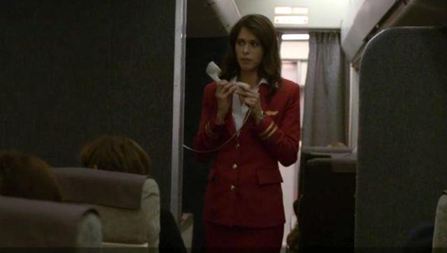 Stewardess Makes announcement
