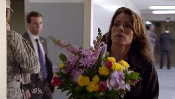 Christina Brings Flowers